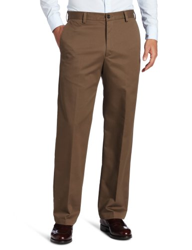 (IZOD Men's American Chino Flat Front Straight-Fit Pant, Decaf Coffee, 35W x 34L)