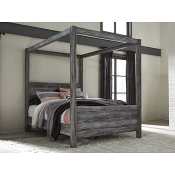 Amazon Com Ashley North Shore King Canopy Bed In Dark