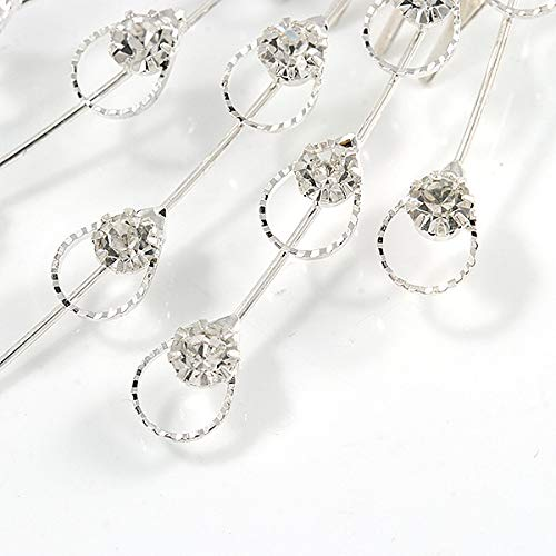 12cm Across Avalaya Bridal//Wedding//Prom//Party Silver Tone Clear Austrian Crystal Peacock Feather Side Hair Comb