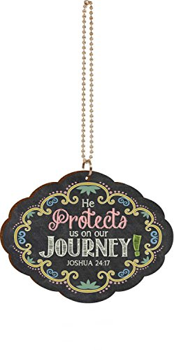 he-protects-us-on-our-journey-multicolor-chalkboard-look-wood-car-charm