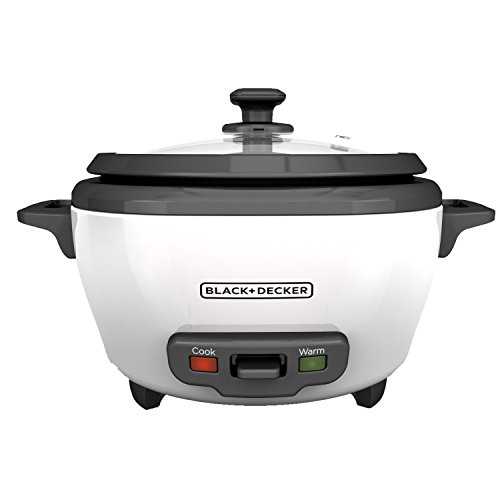 BLACK+DECKER RC506 6-Cup Cooked/3-Cup Uncooked Rice Cooker and Food Steamer, White ()