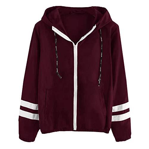 Windbreaker Coat for Women,ONLY TOP Women's Raincoats Windbreaker Lightweight Active Outdoor Hooded Jacket Red (Hello Kitty Swimsuit Adult)