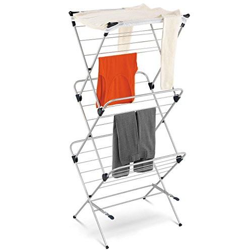 Honey Can Do - Best 3-tier Silver Mesh Top Stainless Steel Clothes Drying Rack (For Indoor or Occasional Outdoor Use)