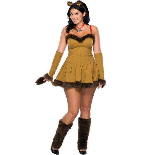 [Cowardly Lioness Costume - Plus Size - Dress Size 16-20] (Woman Lioness Costume)