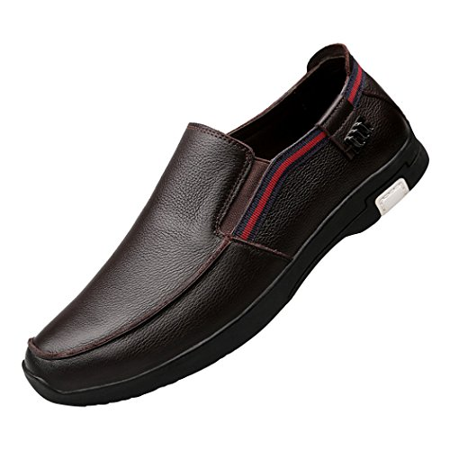 Mocassini Slip-on Da Uomo Casual Casual In Morbida Pelle Traspirante Marrone Chiaro