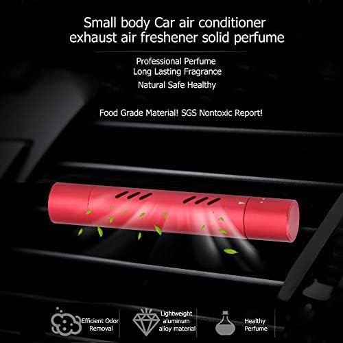 REFURBISHHOUSE 車の空気清浄ソリッド香水アロマカーフレグランスディフューザー、ベントクリップ付き、自動車用ソリッド空気清浄機、車室用(レッド)