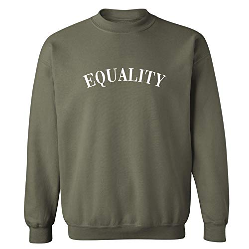 (Equality Crewneck Sweatshirt in Military Green - Medium)