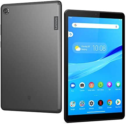 "Lenovo Tab M8 Tablet, 8"" HD Android Tablet, Quad-Core Processor, 2GHz, 32GB Storage, Full Metal Cover, Long Battery Life, Android 9 Pie, ZA5G0060US, Slate Black"
