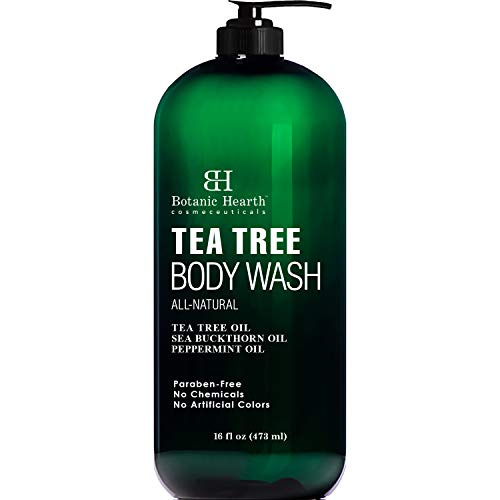 BOTANIC HEARTH Tea Tree Body Wash, Helps Nail Fungus, Athletes Foot, Ringworms, Jock Itch, Acne, Eczema & Body Odor, Soothes Itching & Promotes Healthy Skin and Feet, Naturally Scented, 16 fl oz