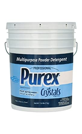 Dial 1729436 Professional Purex Fresh Spring Waters Multipurpose Powder Detergent, 15.6lbs Pail, 274 Load