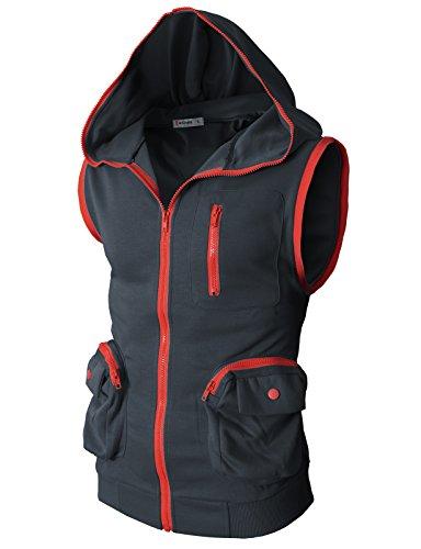 H2H Active Sleeveless Zip up Pockets