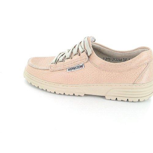 De Mujer Zapatos Beige Mephisto Cuero Cordones 85wpRxznq