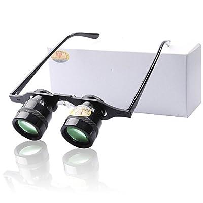 NOWONE Portable 10x 34 Magnifier Glasses Ultralight Hands Free Fishing Binoculars Telescope for Look Drift Hiking Concert Football Game Outdoor Spyglass