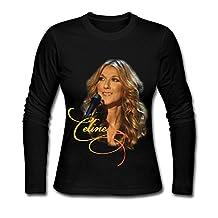 Celine Dion T-shirts Black For Women Long Sleeve