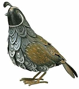 chsgjy especial Quail pájaro Metal casa jardín patio Art Decor estatua sudoeste Wildlife Ind al aire libre