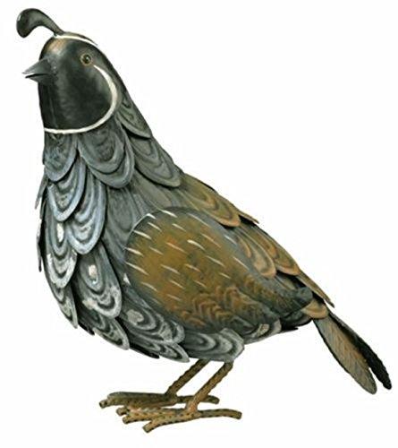 CHSGJY Special Quail Bird Metal Home Garden Yard Art Decor Statue Southwestern Wildlife Ind Outdoor
