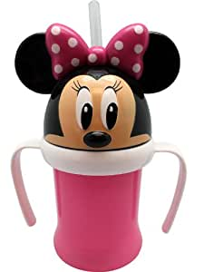 Amazon Com Pink Minnie Mouse Sippy Cup With Straw And