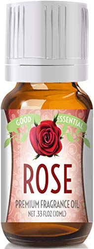 Rose Scented Oil by Good Essential (Premium Grade Fragrance Oil) - Perfect for Aromatherapy, Soaps, Candles, Slime, Lotions, and More!