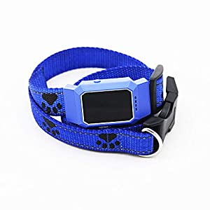 BEESCLOVER D35 Pet GPS GSM Tracker Dog Cat Real-time Tracking Collar Security Finder Locator Blue for ce Click on image for further info.