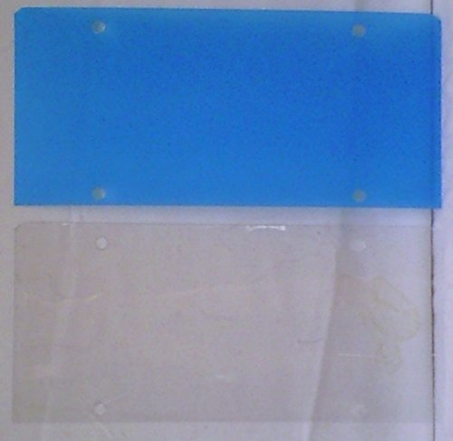 License Plate Cover Clear Flat Plastic