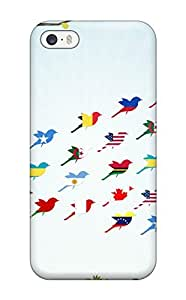 Durable Defender Case For Iphone 5/5s Tpu Cover(flag)