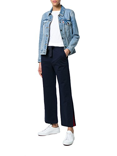 Moncler Pantaloni Donna 8774100809AB777 Cotone Blu