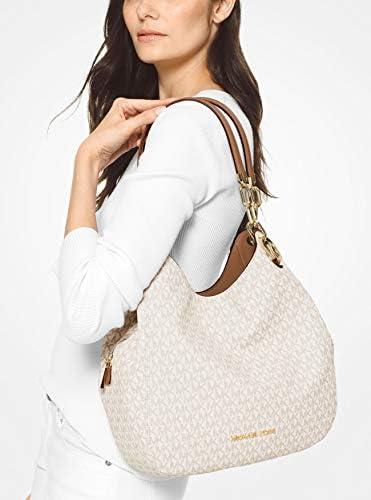 MICHAEL KORS Lillie Large Leather Shoulder Bag (Vanilla)