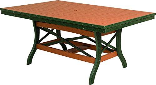 (Poly Lumber Patio Furniture Set with 1 Rectangular Table (48