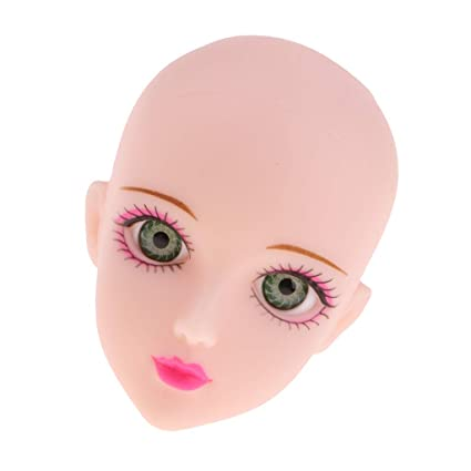 88ba26cb869 Buy Kawn Soft Plastic Female Doll Head Sculpt with Green Eyes for 1/6 BJD  Doll Parts Accessory Online at Low Prices in India - Amazon.in