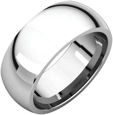 Platinum 8mm Comfort Fit Band, Ring Size 6.5