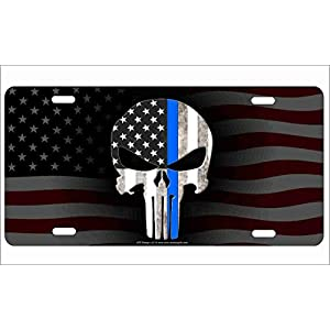Line-Skull-on-American-Flag