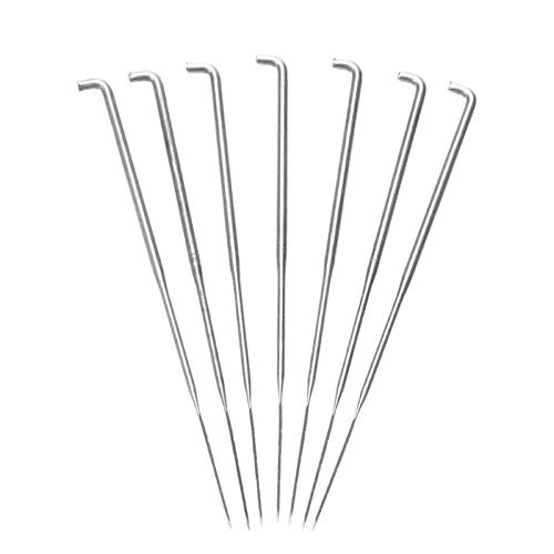 (Needles - 7pcs Set Wool Felting Needles Embroidery Crochet Hooks Diy Craft Felt Practical Pin - Industrial Knitting Milliners Sizes Upholstery Leather Open Easy Medium Patches Cross Pack)