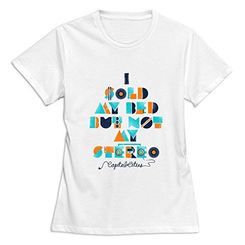 - Soulya Women's Capital Cities T-Shirt Size M US White