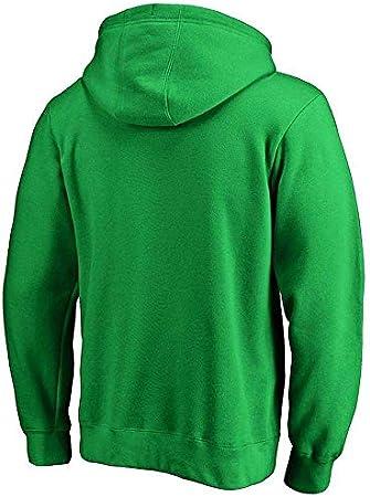 SPORTS Sudadera con Capucha Boston Celtics Kyrie Irving Camiseta De Manga Larga para Hombre Camiseta Estampada con Capucha Sudadera Cómoda Green-L