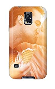 First-class Case Cover For Galaxy S5 Dual Protection Cover Sweet Boy Girl Kissing Holding Ice Cream by icecream design