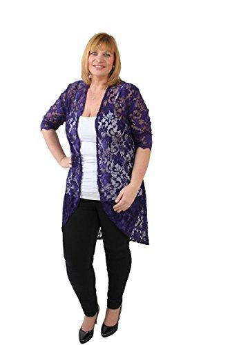 Foxy 30 Avvolgente Cardigan Miss Donna den Floreale 3 Purple 4 Manica a dUqwHx8F