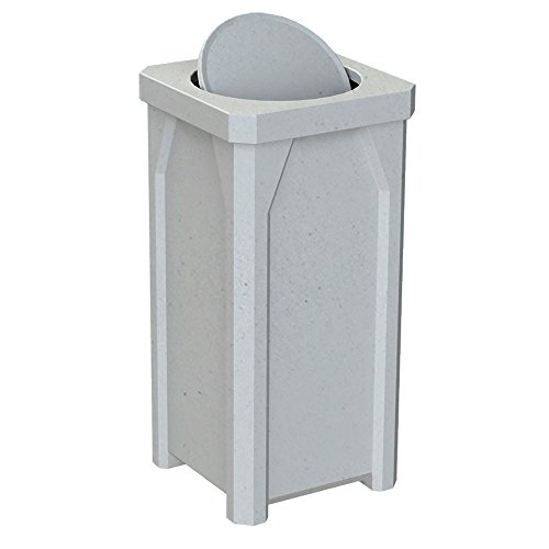 20 GALLON TRASH RECEPTACLE WITH BARRIER LID | LIGHT GRANITE (20 Gal Receptacle Lid)