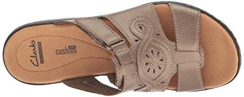 Leather Sandals Pewter Clarks Women's Metallic Leisa Higley vx46q