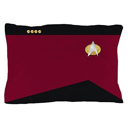 CafePress Star Trek: TNG Uniform - Captain Standard Size Pillow Case, 20