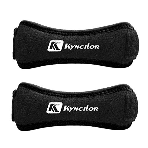 Kuerqi Kyncilor Patella Tendon Brace Knee Sports Support Strap Belt Pain Relief Guard For Basketball Volleyball, Training, Badminton, Tennis, Weightlifting, and Other Sports. (Black)