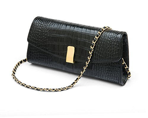 SageBrown SageBrown Melanie Melanie Black Croc Bag HvrHxBqU