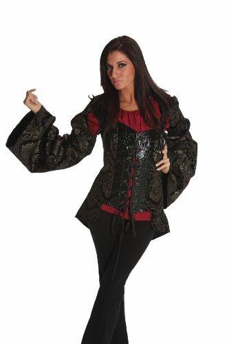 Renaissance Pirate Princess Corset with Detachable Medieval Sleeves SC41005 (Small) (Vest Renaissance Girl Costume)