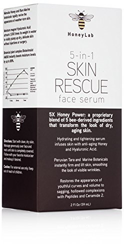 HoneyLab Skin Rescue Face Serum with Manuka Honey, Hyaluroni