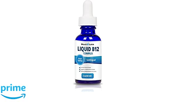 BEST Vitamin B Complex Liquid ☆ New Vitamin B12 Sublingual Drops ☆ Advanced Energy Formula Combines B2 (Riboflavin) - B9 (Folic Acid) - B12 ...