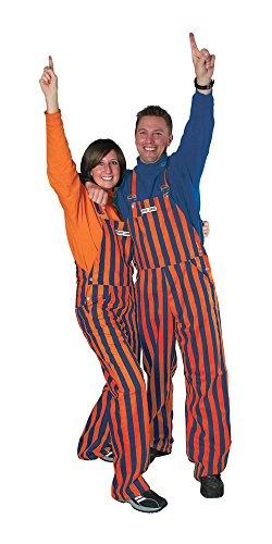 Auburn Tigers Striped Game Bibs Adult Overalls: XL (44X32): XL (44X32)