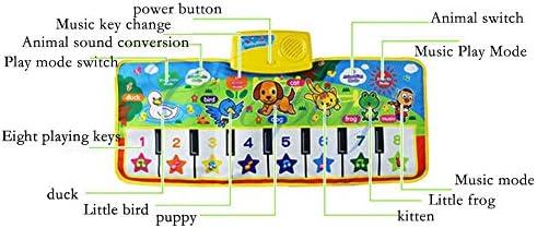 子供用ピアノマット、ポータブル多機能タッチプレイミュージカルカーペットミュージカルダンスマットカーペットキーボードプレイマット、キッズボーイズガール用(110 * 36 Cm)