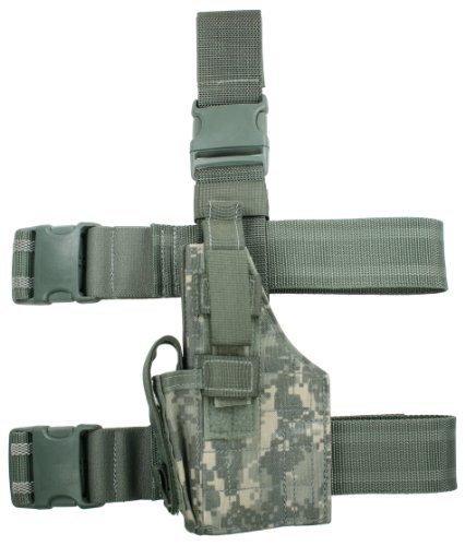 Specter Gear Tactical Thigh Holster fits Beretta M-9, 92 and 96 Series Handgun, Army ACU Camo, Left Hand Ballistic Nylon Thigh Holster