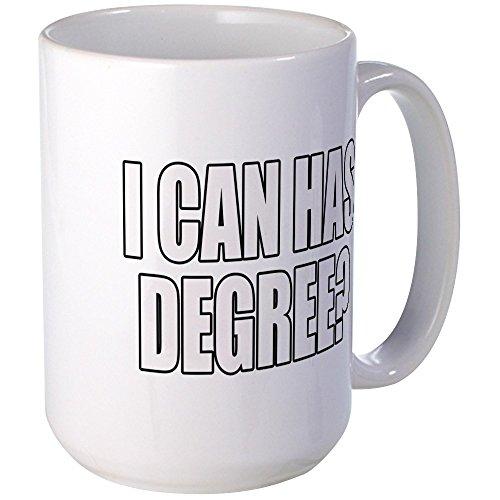 CafePress - Icanhasdegree Copy Mugs - Coffee Mug, Large 15 oz. White Coffee Cup (Has Cheezburger I Christmas)