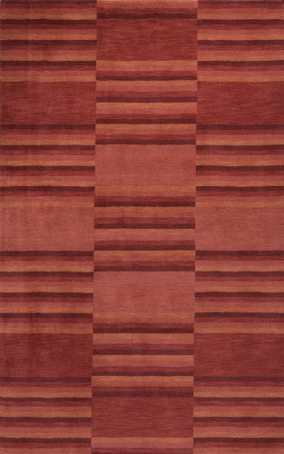 Momeni Rugs GRAMEGM-08RED5080 Gramercy Collection, 100% Wool Hand Loomed Contemporary Area Rug, 5' x 8', - 8' Gramercy Rug