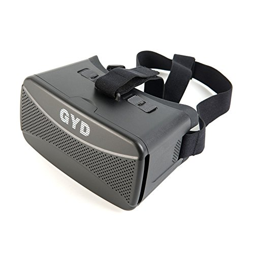 Minidiva GYD VR 3D Glasses Colorcross II Google Cardboard Virtual Reality 3d Glasses Update for Iphone 6 Plus (Black)